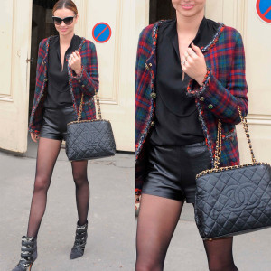 Miranda Kerr in a Chanel jacket