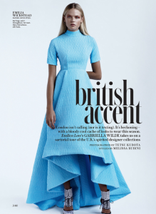 Gabriella Wilde in Emilia Wickstead for Instyle March 2014