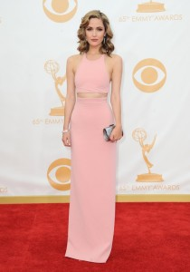 In Calvin Klein Collection at the Emmys 2013